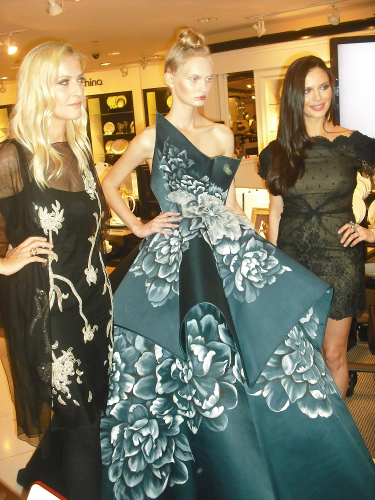 Marchesa Co-Designer Keren Craig, Model, Marchesa Co-Designer Georgina Chapman