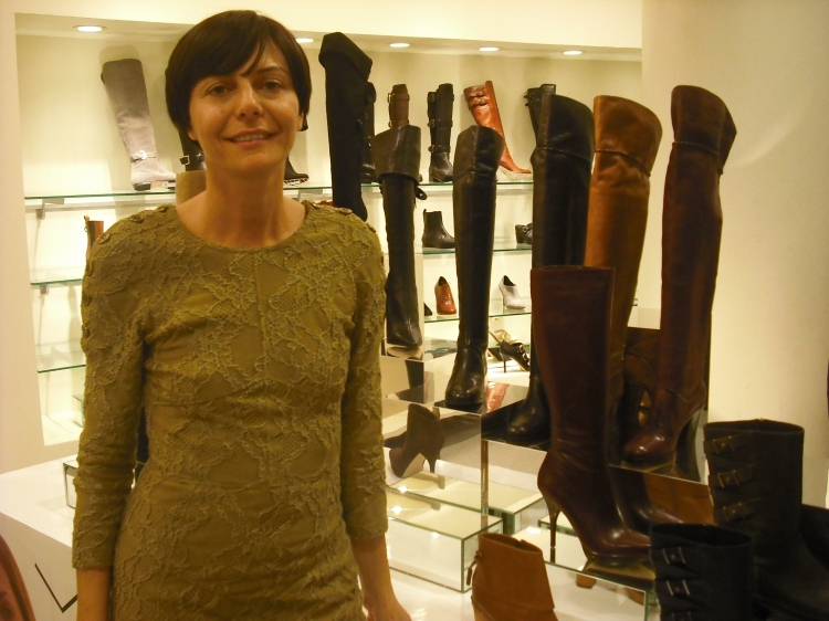 Via Spiga Creative Director Paola Venturi with Via Spiga Shoes