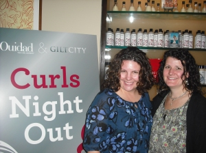 Ladies After a Ouidad Styling at Curls Night Out