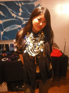Abakus Jewelry at Touch of Fabulous Trunk Show modeled by Marsha Chun-Matsubara's Friend