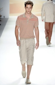Horizontal Lines at Perry Ellis Spring Summer 2012