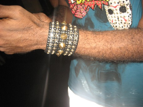 Lexx Perry Wearing One of His Cuffs