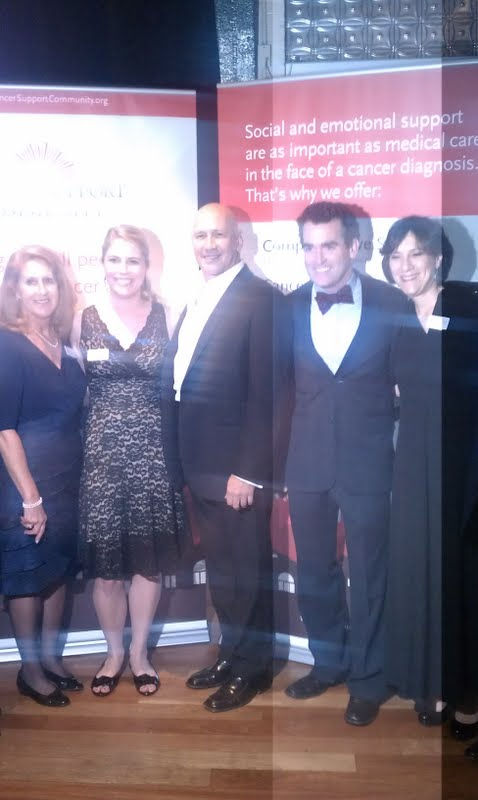Carmen Marc Valvo and Brian D'Arcy James at the Cancer Support Community Gala 2012