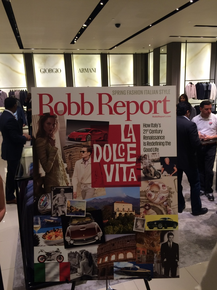 ROBB REPORT La Dolce Vita at Saks Fifth Avenue-Main